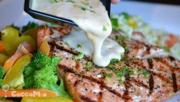 Baked Salmon with Garlic Sauce Fish Recipe