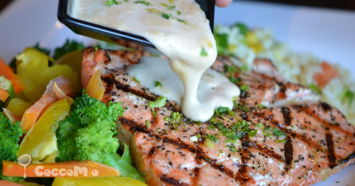 Baked Salmon with Garlic Sauce Fish Recipe