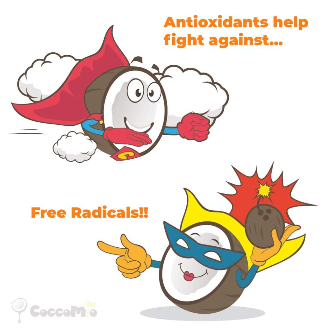 CoccoMio Antioxidants help fight free radicals