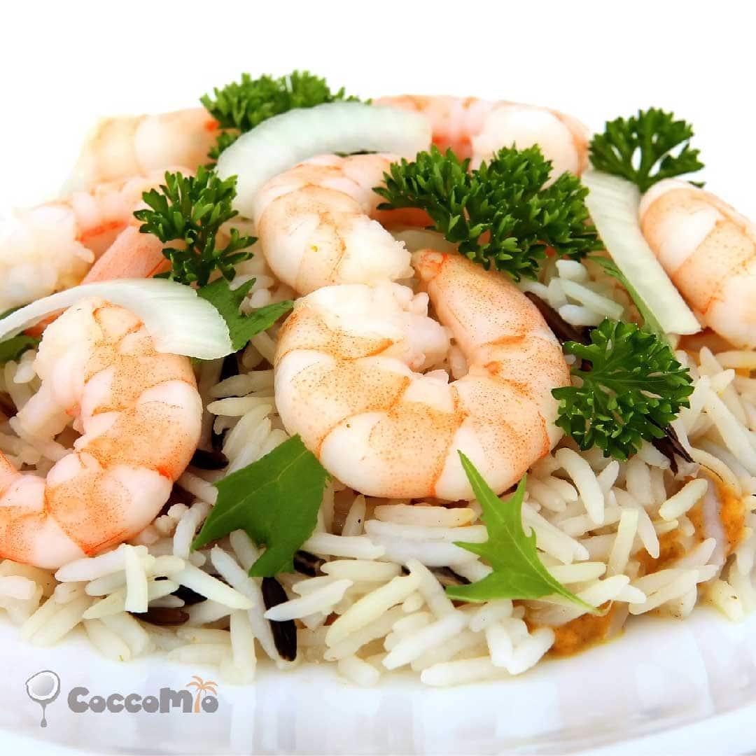 CoccoMio Coconut Rice with Shrimp Recipe