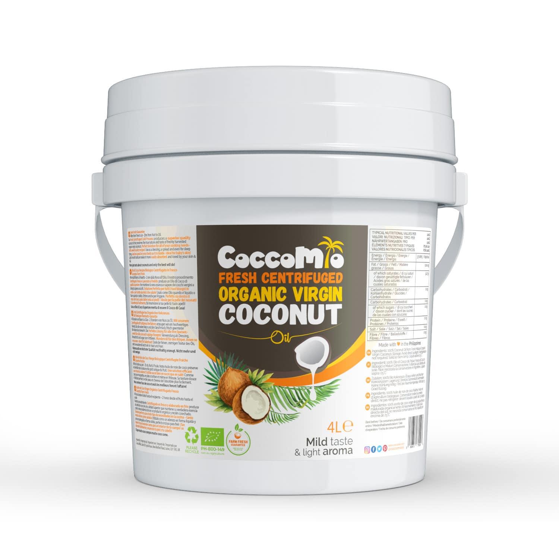 CoccoMio Fresh Centrifuged Organic Virgin Coconut Oil 4L Tub