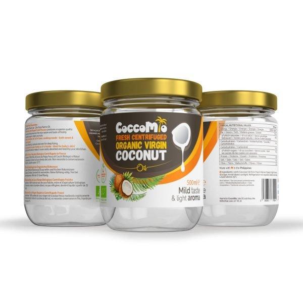 CoccoMio Fresh Centrifuged Organic Virgin Coconut Oil 500ml Jars