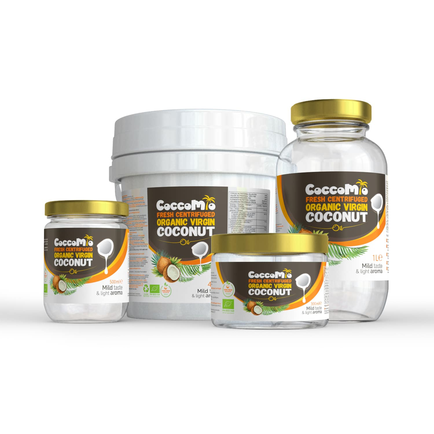 CoccoMio Fresh Centrifuged Organic Virgin Coconut Oil Products