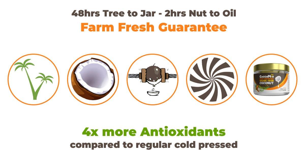 CoccoMio How Fresh Centrifuged Organic Virgin Coconut Oil is made