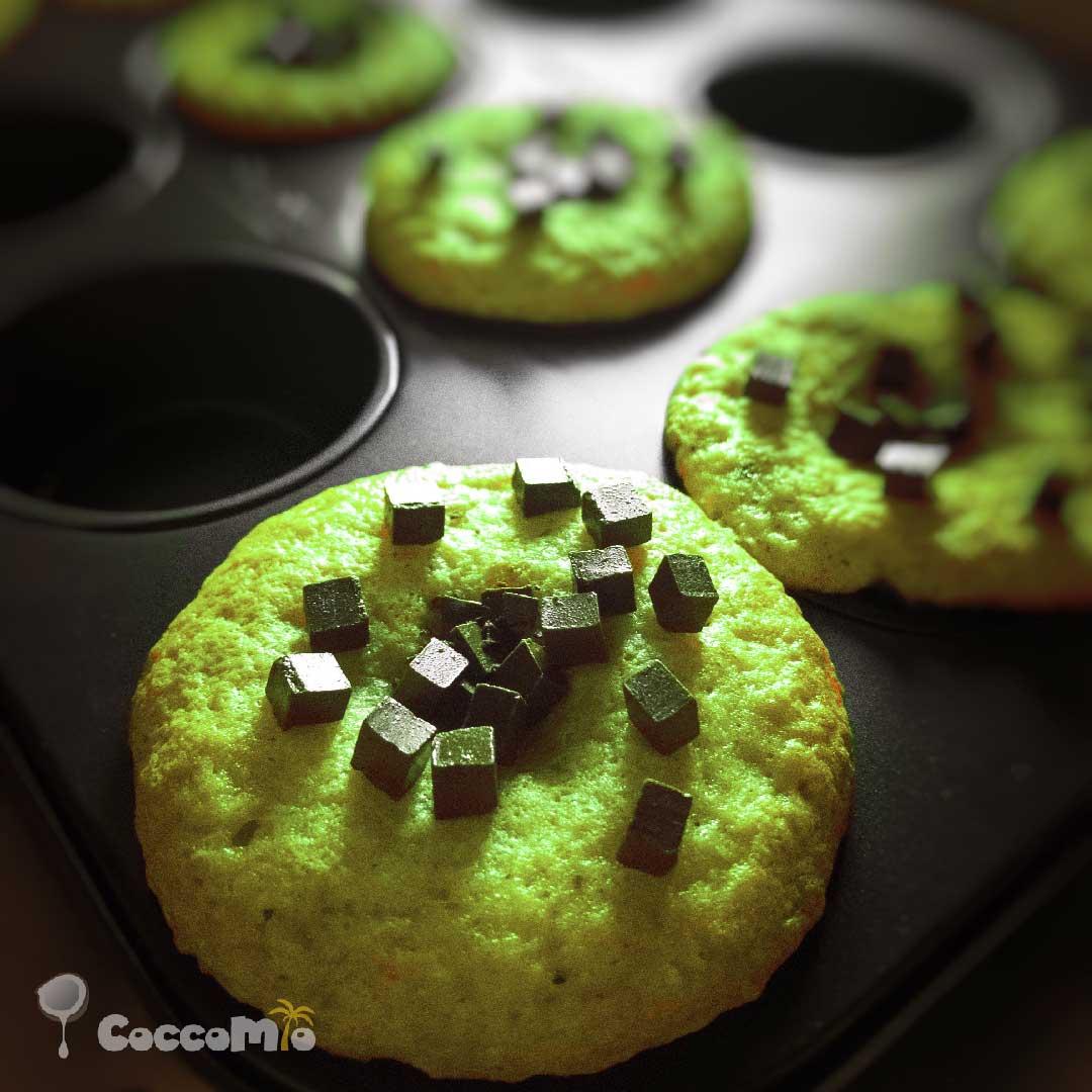 CoccoMio Matcha Muffin Recipe Square
