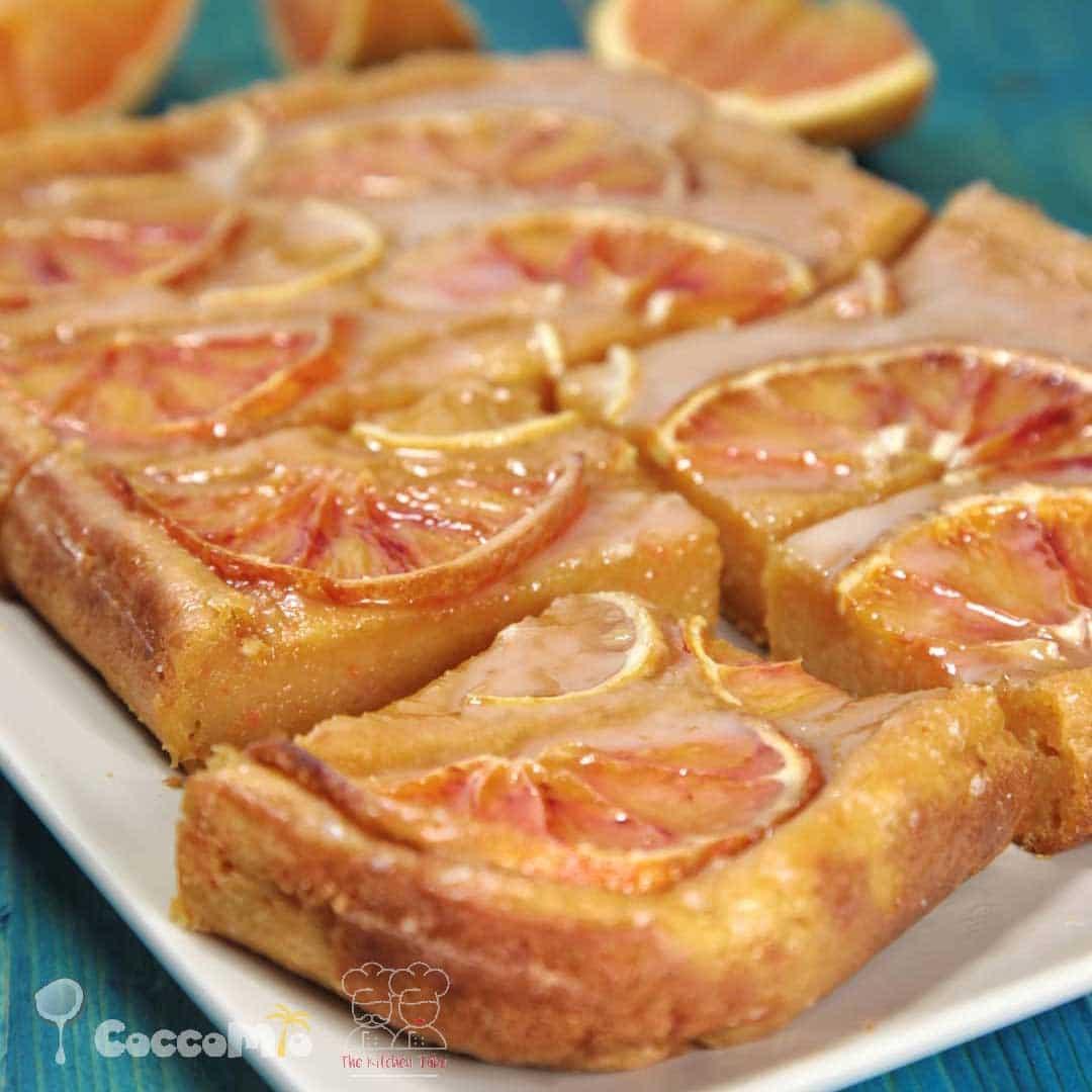 CoccoMio Orange Carrot Lemon Brownie Recipe Square