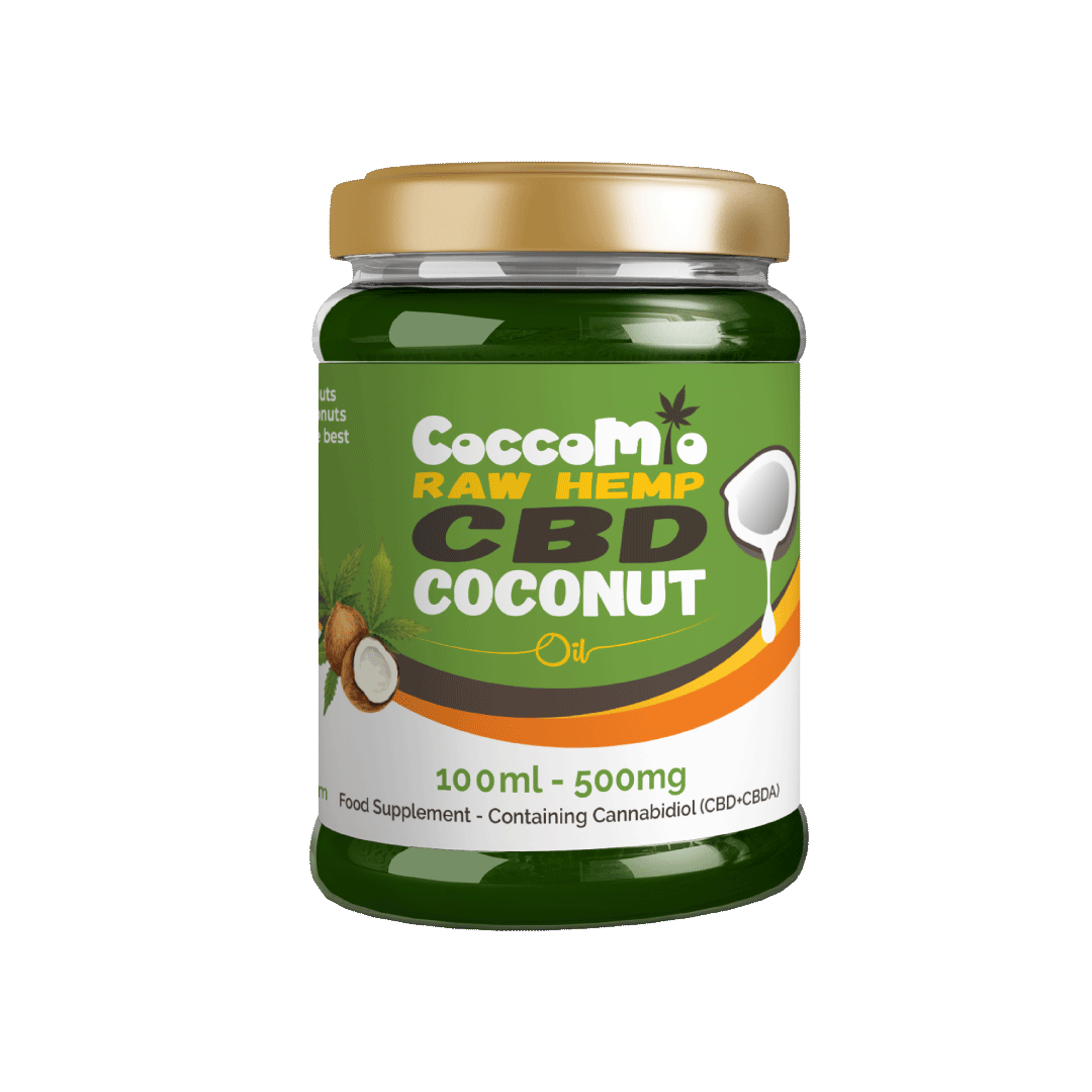 CoccoMio Raw Hemp CBD Coconut Oil 500mg