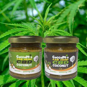 CoccoMio Raw Hemp CBD Coconut Oil Jars