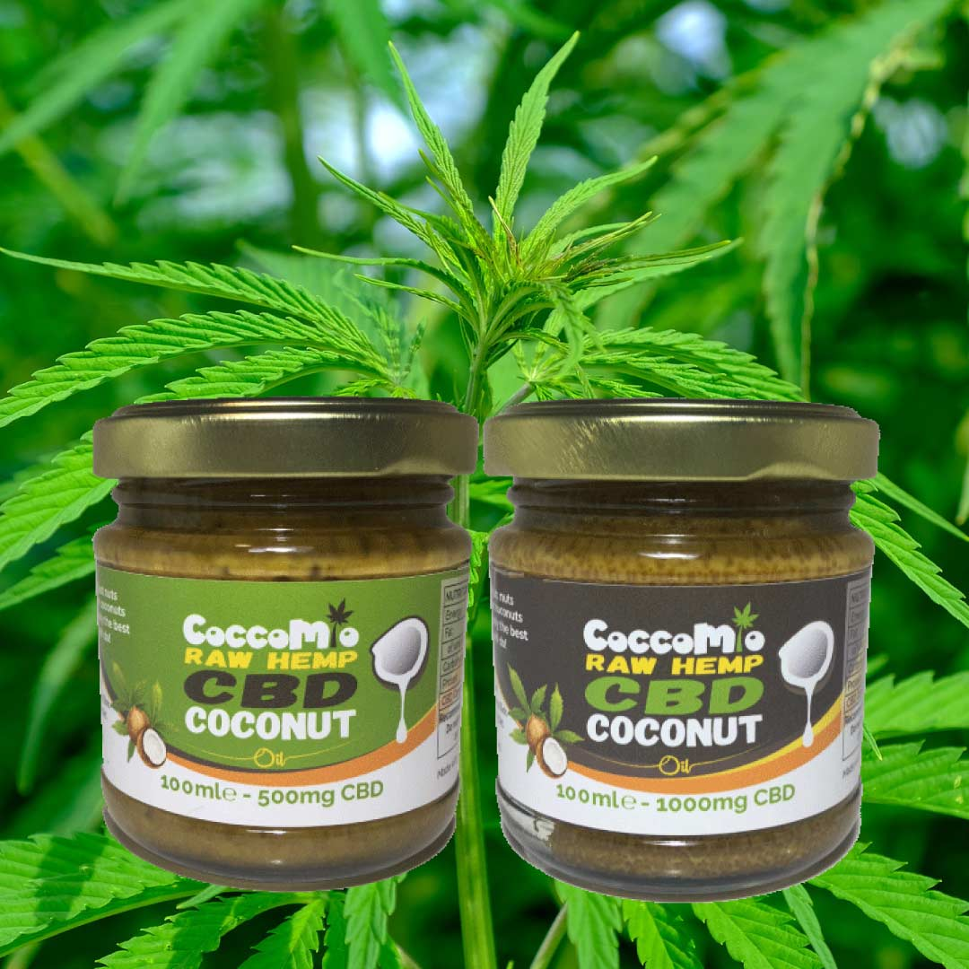 CoccoMio Raw Hemp CBD Coconut Oil Jars