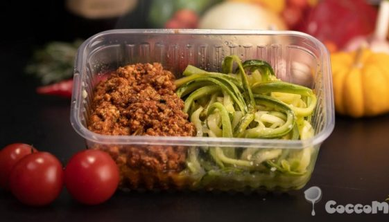 CoccoMio Raw Spiralized Zucchini Spaghetti with Tomato Sauce Recipe