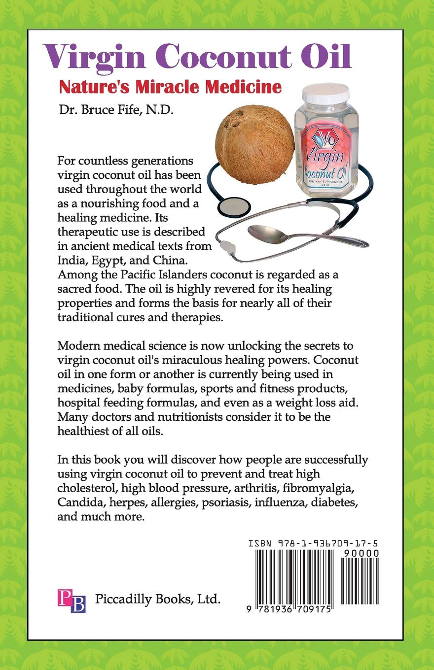 Virgin Coconut Oil: Nature's Miracle Medicine by Bruce Fife - CoccoMio