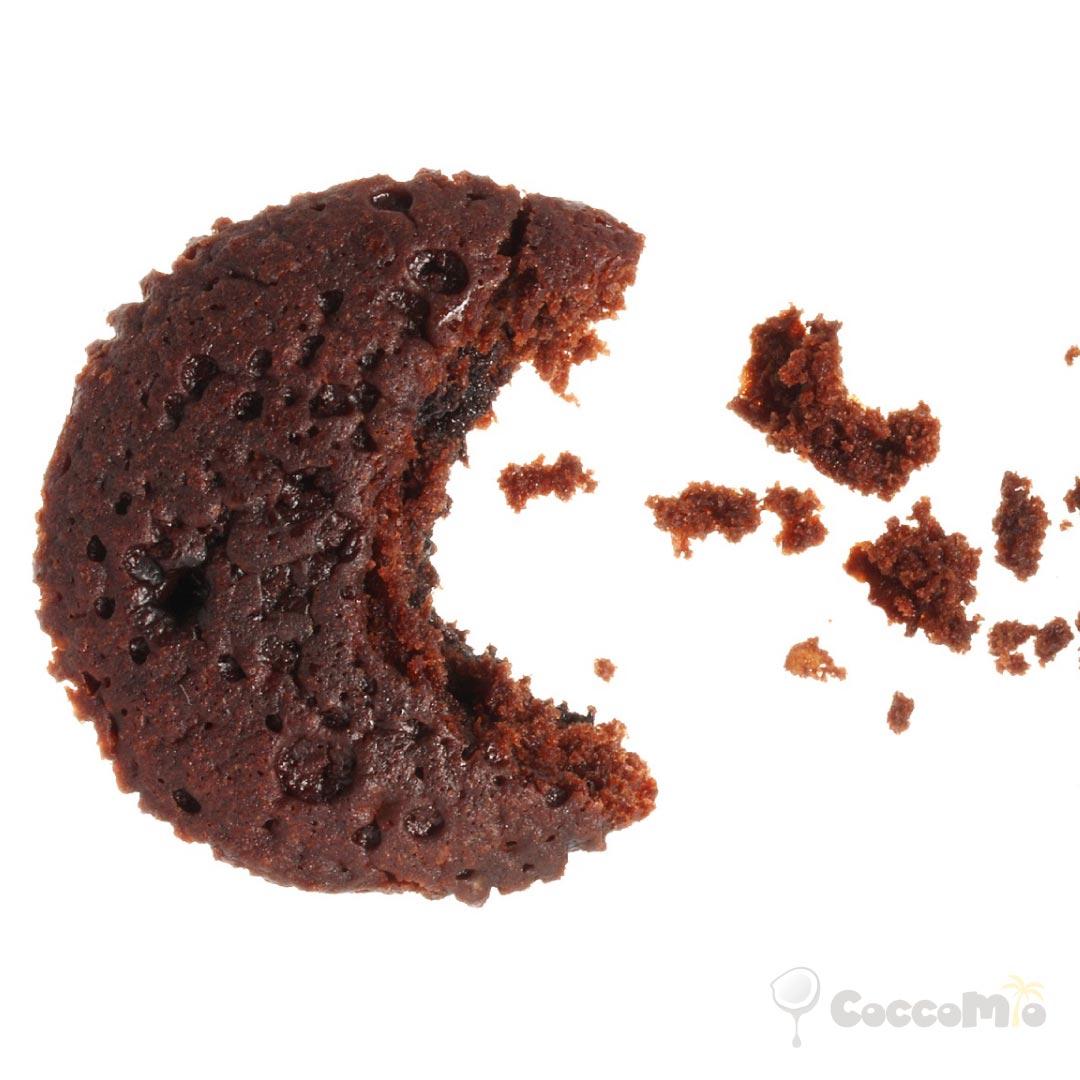 CoccoMio no bake chocolate almond coconut cookie recipe square