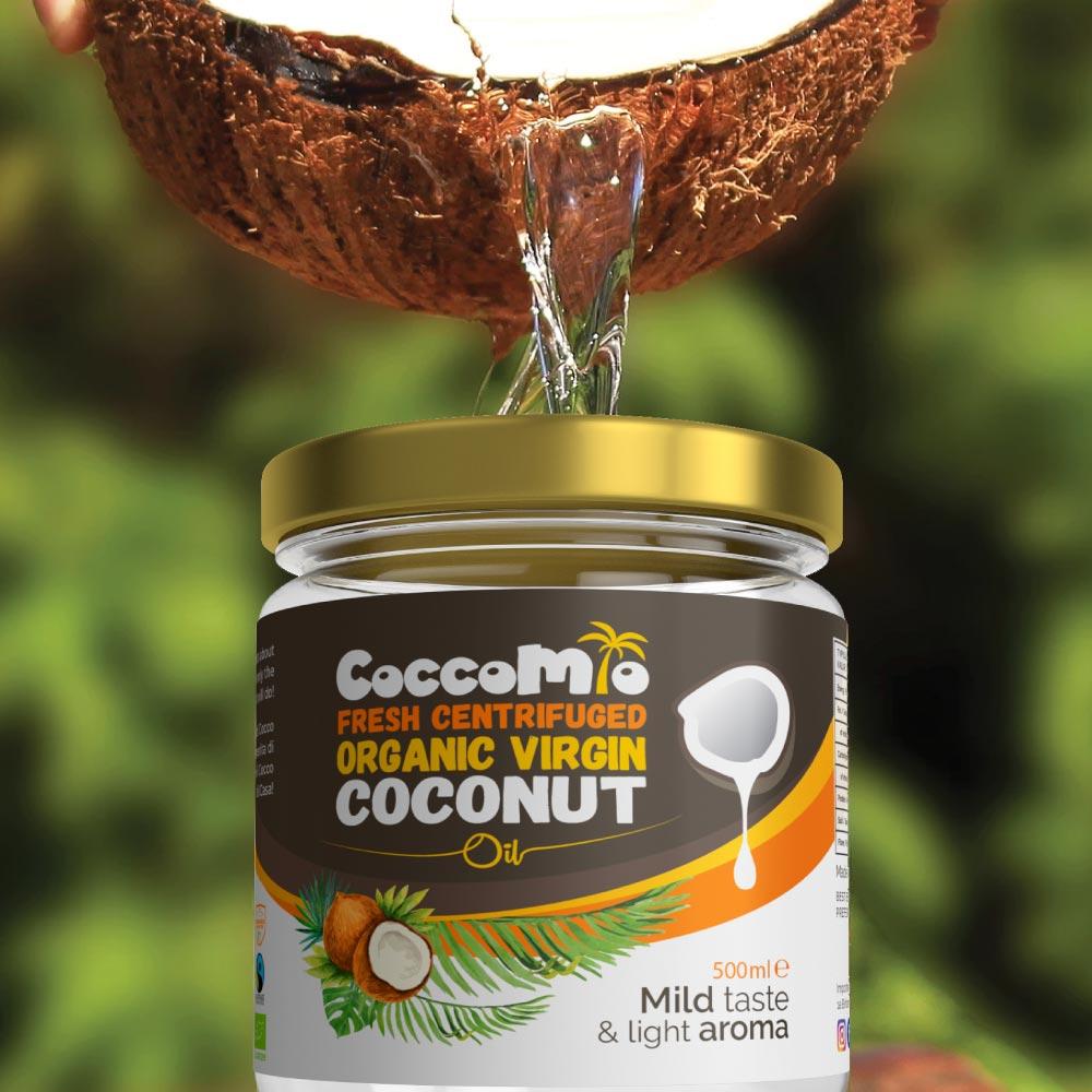 CoccoMio Fresh Centrifuged Organic Virgin Coconut Oil 500ml Jar