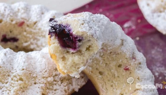 Fluffy Coconut and Red Berry Doughnut Recipe